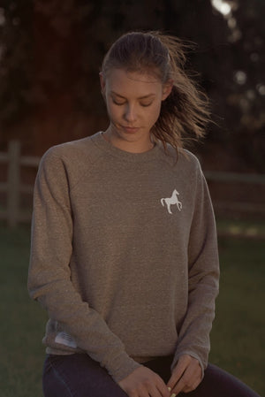 Go Higher Crewneck - Heather Grey