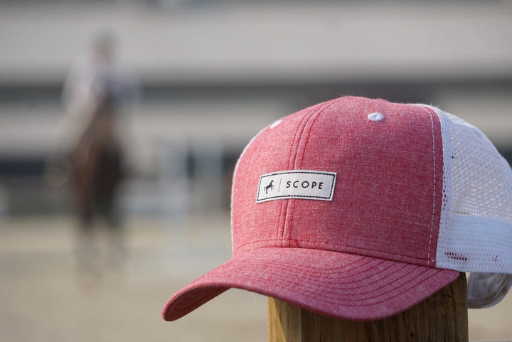 Red Chambray Trucker Hat - Scope Equestrian Lifestyle