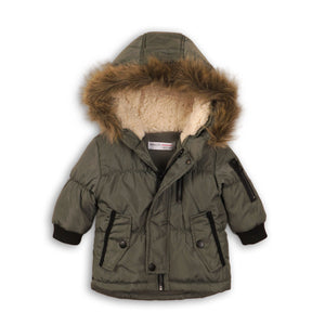 HOODED CANVAS PARKA JACKET