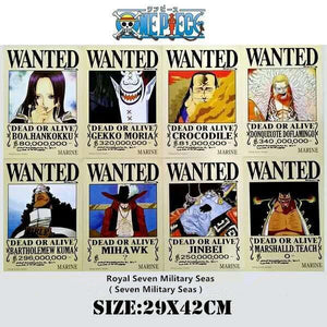 10 PCS/LOT ONE PIECE Wanted Posters - The Night