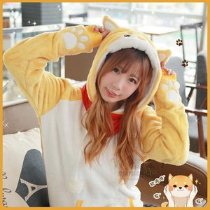 Hoodie Shiba Inu Dog Cute Girls - The Night