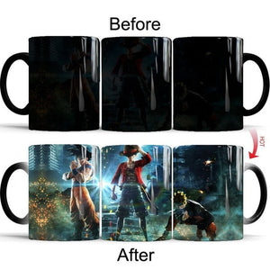 Magic Mugs Anime Naruto Goku &  Luffy Color Changing - The Night