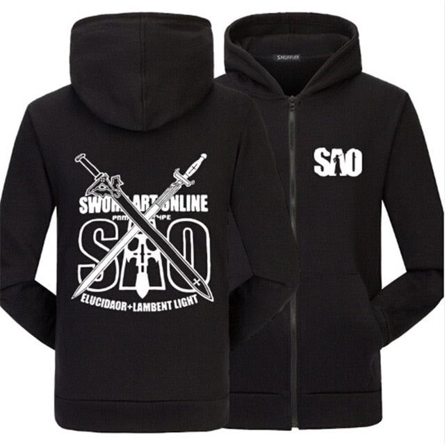 Sword Art Online Fashion Winter hoodies - The Night