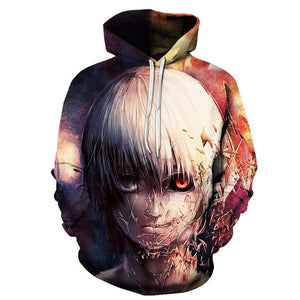 Tokyo Ghoul Fashion 3D Hoodies - The Night