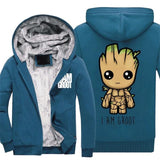Fashion Groot Mens Hoodies - The Night