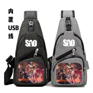 sword art online bags usb charge
