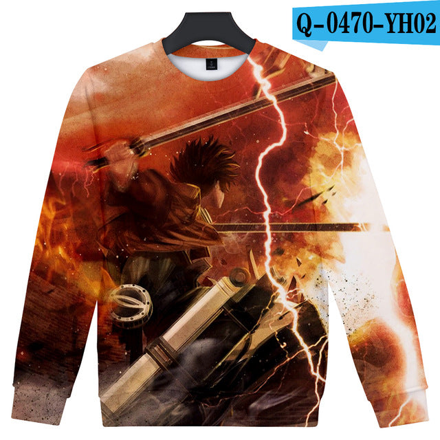 Attack On Titan 3D Sweatshirt. - The Night