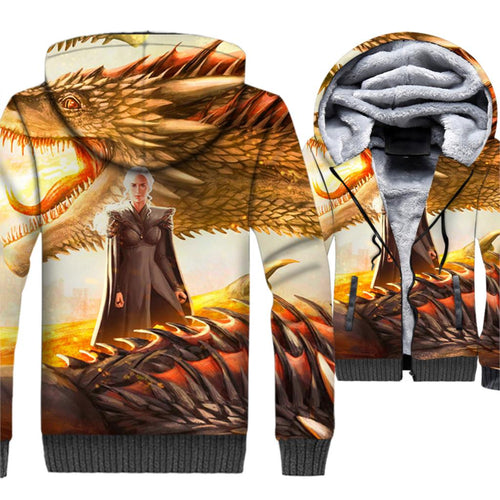 3D Dragon Hoodies Game Of Thrones - The Night