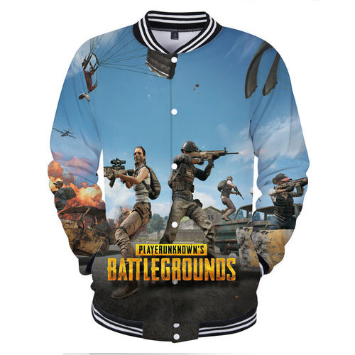 PUBG Fashion  Baseball Jackets 3D