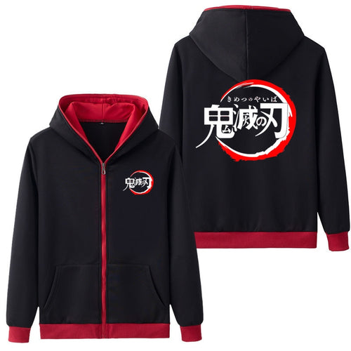 Demon Slayer - kimestu no yaiba Zipper Hoodie - The Night
