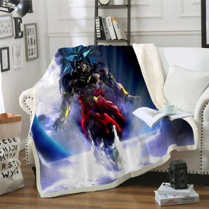 Dragon Ball 3D Sherpa Blanket Couch - The Night