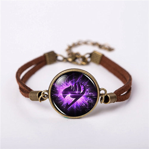 Fairy Tail Guild Marks Purple Wing Bracelet - The Night
