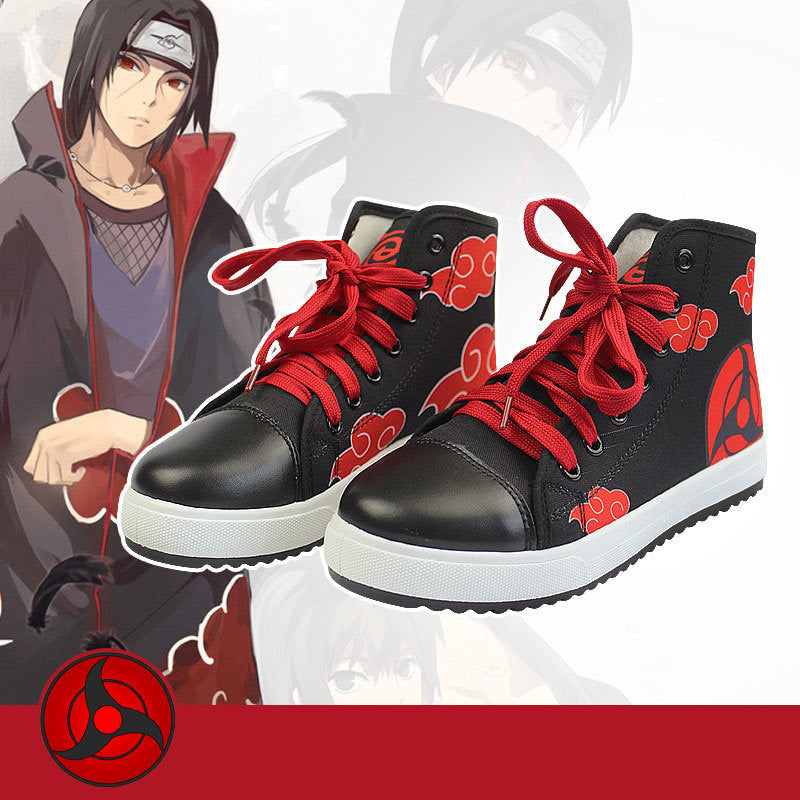 Naruto Red Cloud Shoes - The Night