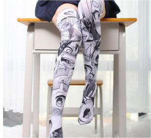 Anime lovely Thigh High Sock ahegao - The Night