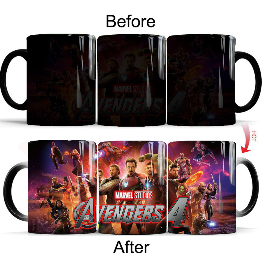 Avengers Endgame Mugs Color Changing - The Night