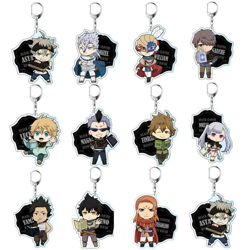 Black Clover Action Figure keychaine 5.5cm - The Night