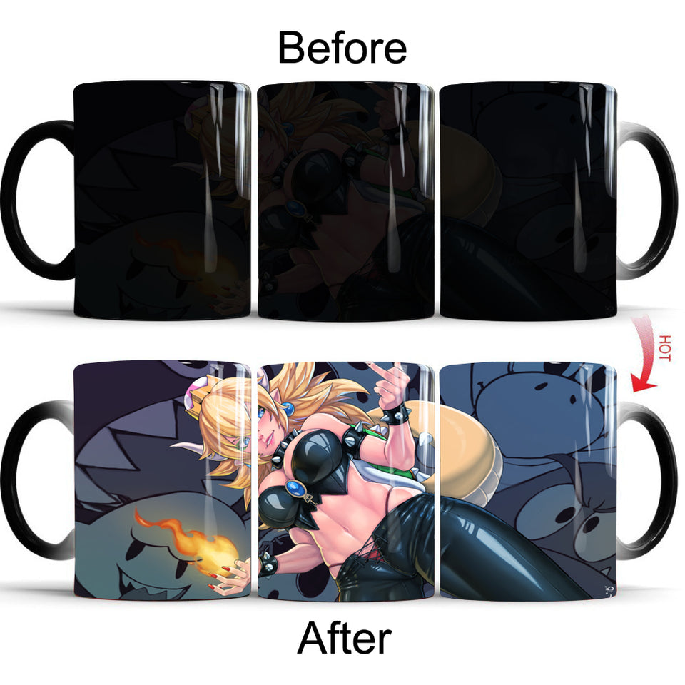 Bowsette Magic Heat Changing Color Mug - The Night