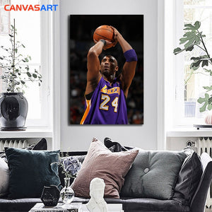 Canvas Kobe Bryant A Classic Shot - The Night