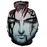 Naruto/Sasuke 3d Anime Hoodies - The Night