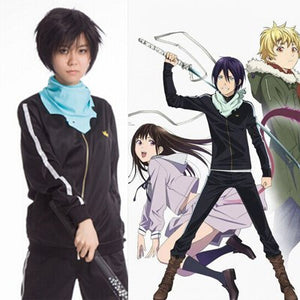Noragami Yato Cosplay(Coat+Pant+Scarf ) - The Night
