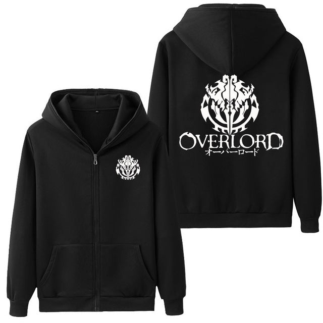 OVERLORD winter Hoodies Zipper - The Night