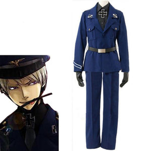 Customized Anime APH Axis powers Hetalia Prussia Cosplay - The Night