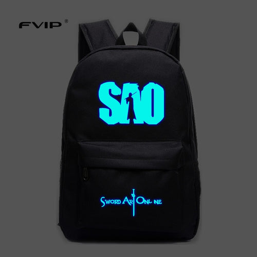 Cool Lumious Sword Art Online Backpack - The Night