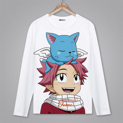 Fairy Tail T-Shirts Long Sleeve - The Night