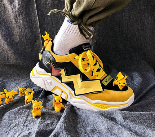 Anime Pokemon Kawaii Pikachu Cosplay Shoes - The Night