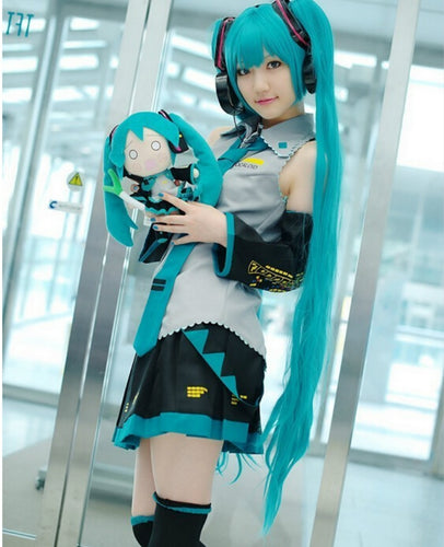 Cosplay Hatsune Miku harajuku (dress+Socking+gauntlets+tie+belt) - The Night