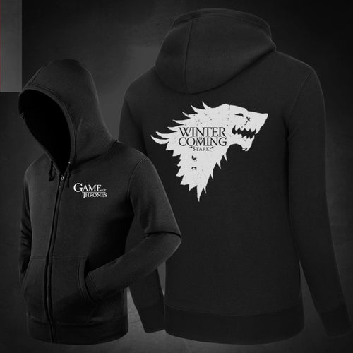 Game of Thrones Stark Hoodie zipper