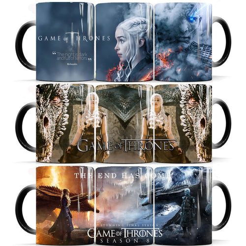 Game of thrones the end begins mugs color changing
