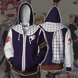 FAIRY TAIL sweater zip Cosplay 3D - The Night