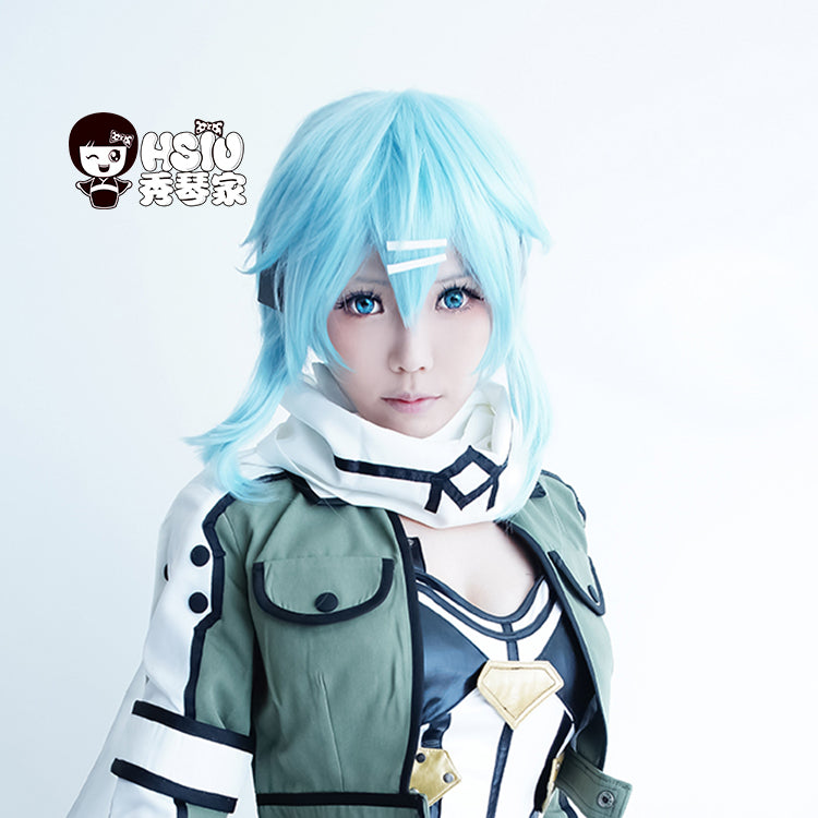 Short Ice blue wig Sword Art Online Cosplay Wig - The Night
