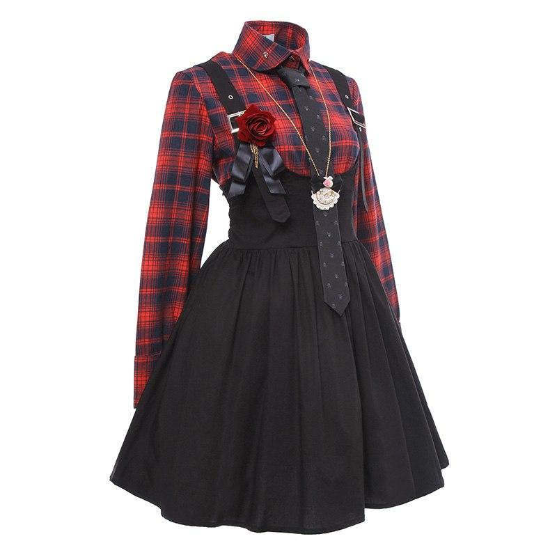 Gothic Lolita Dress for Women Punk Lolita Dress Suspender - The Night