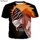 Harajuku BLEACH T-shirts 3D Fashion Cosplay - The Night