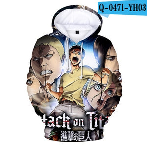 Attack on Titan Hoodies 3D - The Night