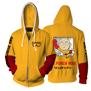 One Punch Man Hoodies Oppai 3D - The Night