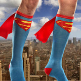 Unisex Super Hero Knee High With Cape Cosplay Socks - The Night