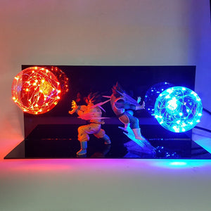 Dragon Ball:  goku vegeta kamehameha Lighting - The Night