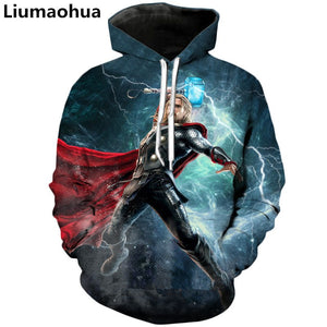 Thor-Superheros 3D Hoodies - The Night