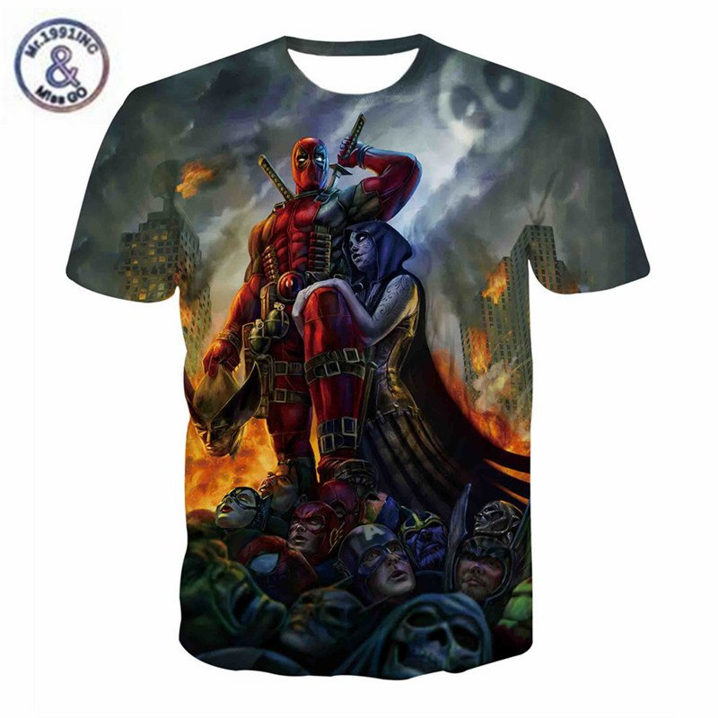 Deadpool Superheroe Tshirt - The Night