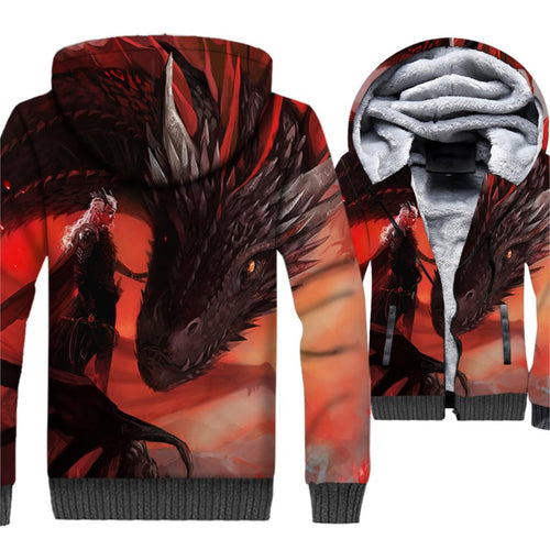 Mother Of Dragon 3D Hoodies Game Of Thrones - The Night