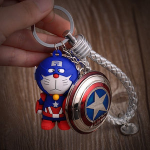Super Heroes Keychain Jingle Cat Captain America - The Night