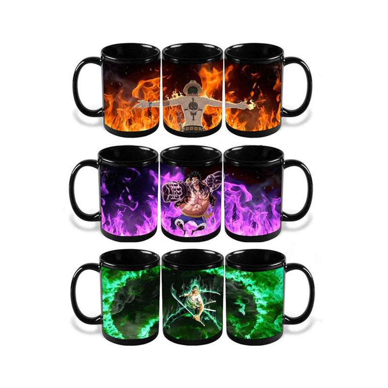 One Piece Mugs - cups Color Change - The Night