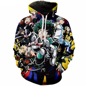 Boku No Hero Academia Cosplay hoodies 3D - The Night