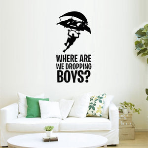 PUBG Where are dropping boys Stickers - The Night