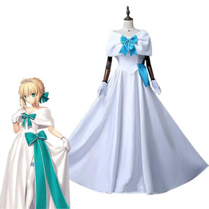 Fate Stay Night Saber Arturia Pendragon Cosplay Costume - The Night