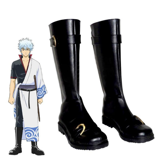 Gintama Sakata Gintoki Cosplay Shoes Sakata Gintoki - The Night