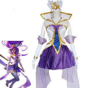 LOL Janna Cosplay Costumes Star Guardian - The Night